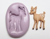 Bambi deer Mold #914 - silicone, crafts, jewelry, resin, porcelain, clay, candies, baking, plastic, metal and more uses.