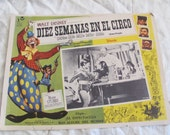 Vintage Spanish Mexican Movie Lobby Card Poster - Disney - Diez Semanas En El Circo - Ten Weeks in the Circus