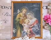 Old Religious Portrait Baby JESUS FRAMED PRINT, Italian, Italy, Catholic