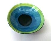 Ceramic Pottery Bowl Dish: Handmade stoneware pottery dish... Indigo Pool