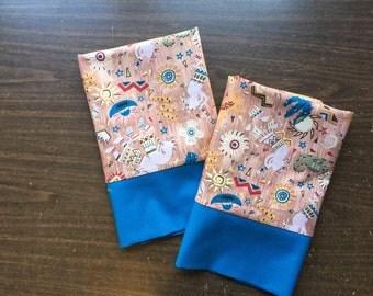 Pillow Case set in wonderful koko Pelli fabric 100% cotton standard or queen availableI