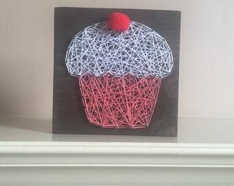 Made to order string art mini cupcake