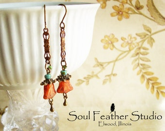 202•CINNAMON Colored Earrings•Earrings•Boho Earrings•Dangle Earrings