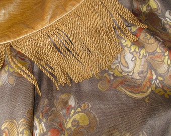 Elegant Custom Throw in Neutral Colors with Medallions