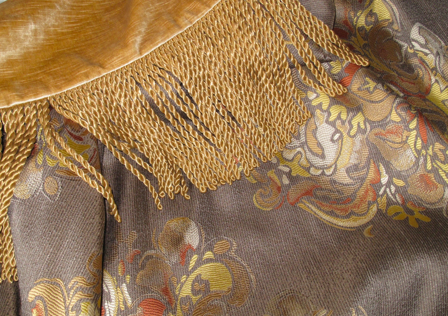 Elegant custom throw in neutral colors with medallions for Elegant neutral paint colors