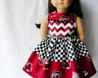 University of South Carolina American Girl Dress - Go GAMECOCKS!