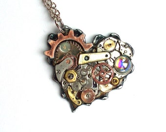 Valentine Necklace Steampunk Heart necklace