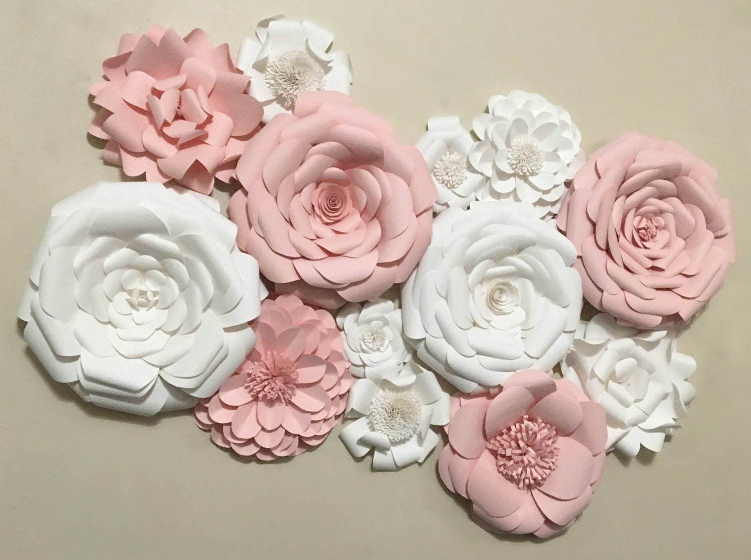 Paper flower wall decor wedding decor home decor paper for Flower decoration made of paper
