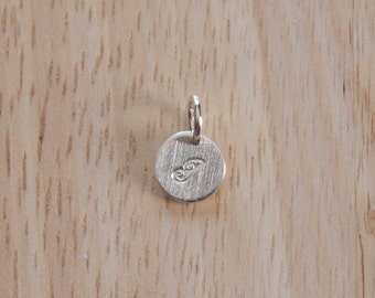 Sterling Silver 'I' Initial Pendant