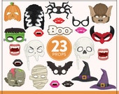 Printable Halloween Photo Booth Props | 23 Printable Props | Instant Download | Photo-Booth Clipart