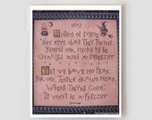Salem Sisters 2 Halloween cross stitch pattern by Plum Street Samplers at cottageneedle.com Beggar's Night embroidery The Cottage Needle