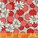 Windham Fabrics - Polka Dot Flower in Red - Feedsack Collection by Whistler Studios - 1930's Reproduction Fabric - By The Yard