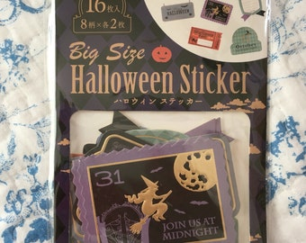 16 Big size stciker flakes pack Halloween