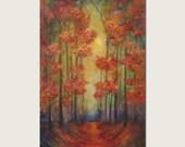 Large Original Landscape Painting Colorful Original Art by published artist Laura Sue