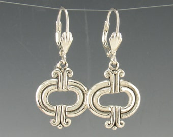 ER589- Sterling Silver Earrings- One of a Kind