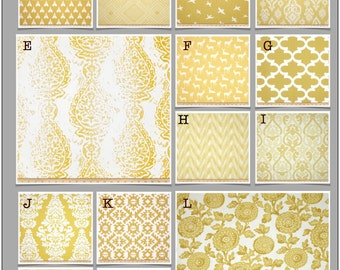 Custom Baby Crib Bedding- Design Your Own Modern Bedding- Dorm Bedding- Glider cushions- Rocker Cushions-Saffron- Yellow