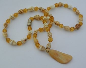 Natural shell necklace Mothers Day Necklace necklace amber necklace magnetic clasp necklace present summer jewelry mothers day gift