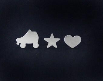 Roller Derby Earrings - Silver Roller Derby Jewelry - Skater Jewelry - Talk Derby to Me - Derby Wife Gift