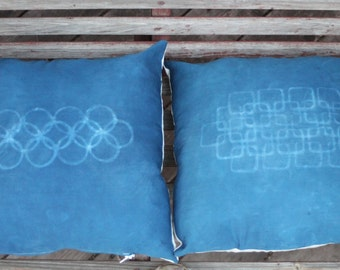 Indigo Pillows - Geometrics