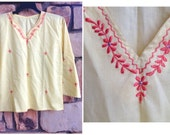 70s Mellow Yellow Magical Mystery Embroidered Indian Tunic