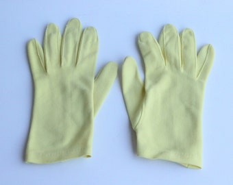Vintage Yellow Gloves Womens Size Extra Small