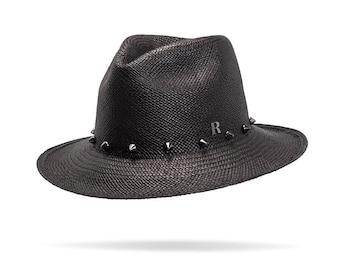 Studs Rocky Black Panama Hat
