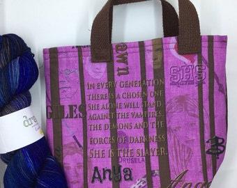 Quilted Buffy The Vampire Slayer Tote