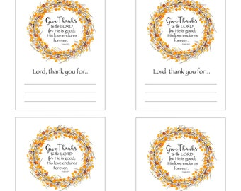 Give Thanks -  Dinner Decorative Place Cards
