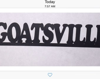 Metal Wall Art Decor,GOATSVILLE, Wall Art, Home Decor