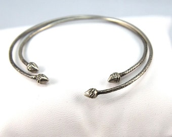Sterling Silver Victorian Wedding Bangles pair of 2