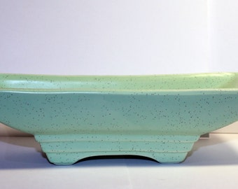 Vintage McCoy Pottery Planter, McCoy Dish, Pedestal Planter, Pale Green McCoy