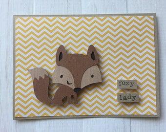 Foxy Lady Fox Card