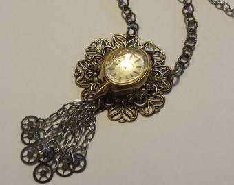 Womens Steampunk Necklace Bridal Jewelry Wedding
