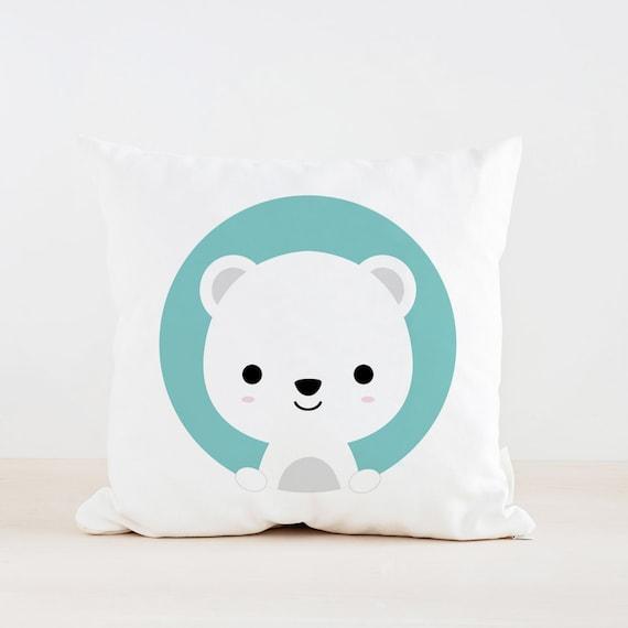 Animal Pillows For Nursery : Animal Polar Bear Nursery Pillow Kids Pillow Cushion Home