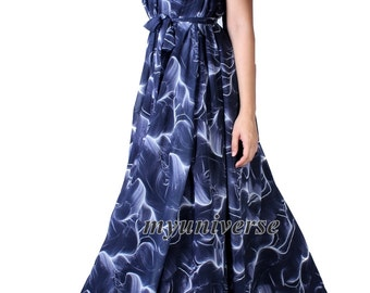 Party Dress Maxi Dress Full Length Evening Gown Dress Extra Long Plus Size Dresses Clothing Chiffon Dress 1X 2X 3X Wedding Dress Navy Blue