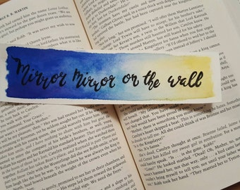 Mirror Mirror Snow White Watercolor Bookmark, Gift For Booklover