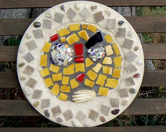 Silly Face Mosaic Art Plate