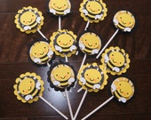 Bee Cupcake Topper, Bee Baby Shower, Bee Birthday Party