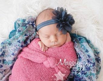 Gray headband, charcoal, headband, infant headband, elastic headband, baby headband, newborn headband, baby girl, newborn girl, hair clip