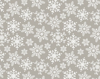Fabric by the Yard- Even A Mouse-Snow by Maude Asbury for Blend