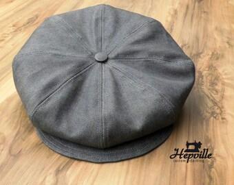 Newsboy Cap - Selvedge Denim - Grey