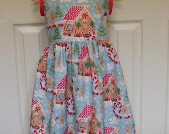 Gingerbread Dream V Back Dress ( 2T,  3T, 4T, 5, 6, 7, 8, 10)