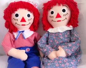 Large Vintage Raggedy Ann and Andy Doll
