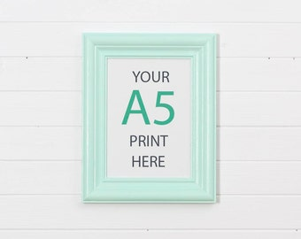 A5 frame - Mint- Scandinavian style - made to order