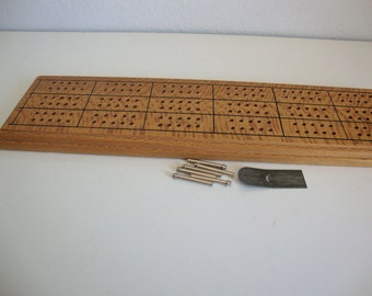 Vintage Cribbage Board Wood, Cribbage Board, Card Game, Board Game