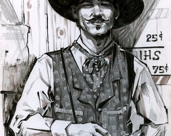 Doc Holliday Tombstone print by Shaunna Peterson
