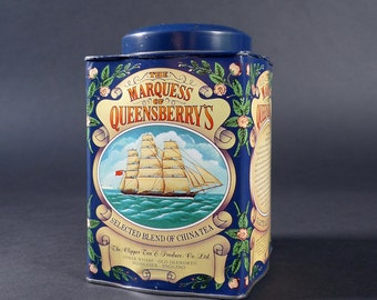 Vintage Tea Tin - The Marquess of Queensbury