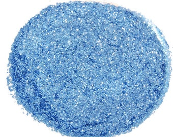 Periwinkle Blue SOLVENT RESISTANT Glitter 0.015 Hex - 1 Fl. Ounce for Glitter Nail Art Glitter Nail Polish and Glitter Crafts