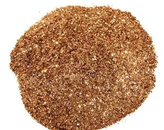 Cinnamon Glitter, SOLVENT RESISTANT, Glitter, 0.015 Hex, Glitter Nail Art, Nail Polish Glitter, Craft Glitter, Dark Gold Glitter, Slime