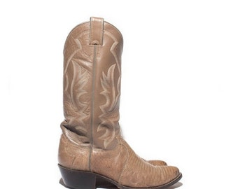 40% off Sale 8 D | Men's Justin Lizard Cowboy Boots in Taupe